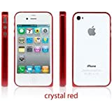 Sinjimoru InLite Ultra Thin 0.9mm Bumper Case for iPhone 4S AT&T & Verizon - CRYSTAL RED