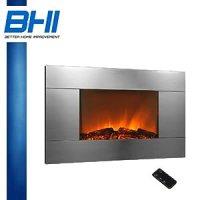 """Amazon.com - Electric Wall Mount Fireplace 36"""" Glass w ..."""