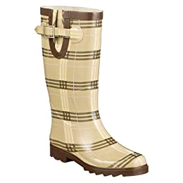 Product Image Women's Nova Plaid Rain Boots - Brown