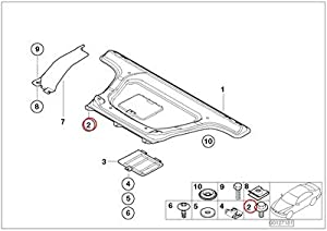 Amazon.com: 8 X BMW Genuine Center Silencer Hexagon Screw