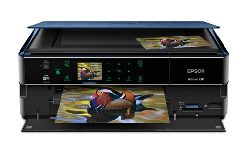 Epson Artisan 730 Wireless All-in-One Color Inkjet Printer, Copier, Scanner (C11CB18201)