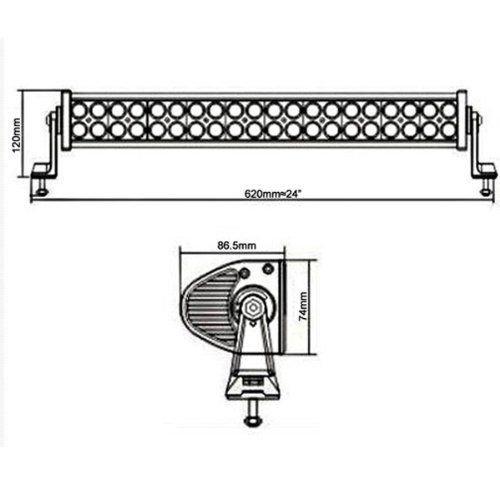Ediors 24 Inch LED Light Bar Flood Spot Combo Beam-3W CREE