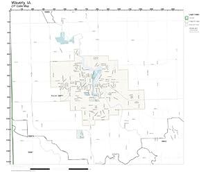 Amazon.com: ZIP Code Wall Map of Waverly, IA ZIP Code Map