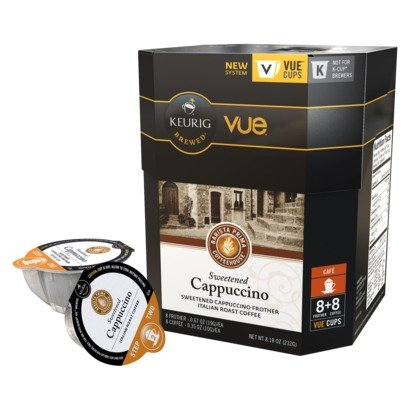 48ct - V Cups Barista Prima Sweetened Cappuccino Coffee and 48ct Frothers for Keurig Vue Brewers