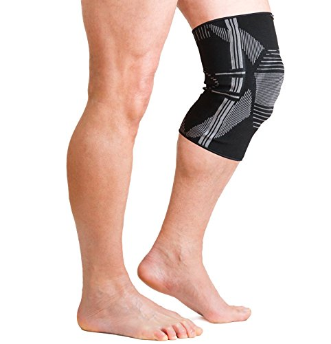 AidBrace Knee Brace Support Sleeve with Patella Support and Side Stabilizers for Meniscus Tear, ACL & LCL Injury Recovery