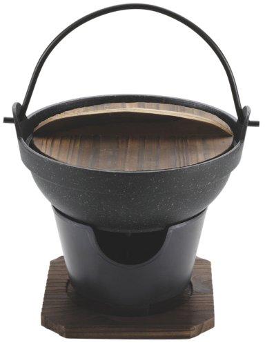 パール金属 ストロングマーブル 懐石 いろり鍋 16cm コンロ付セット H-5361
