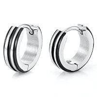 Amazon.com: Unique Stainless Steel Hoop Earrings for Men ...