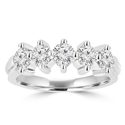 090-ct-Ladies-Brilliant-Cut-Diamond-Wedding-Band-Ring-in-18-kt-White-Gold-In-Size-5