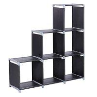 SONGMICS 3-tier Storage Cube Closet Organizer Shelf 6-cube ...