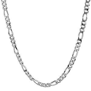 Collar cadena pulsera tobillera Tipo Figaro corte de