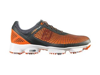Footjoy 51015 M105 Hyperflex Mens Golf Shoes, Grey & Orange - 10.5 Medium