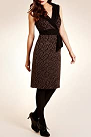 Per Una Crossover V-Neck Giraffe Print Dress [T62-2629I-S]