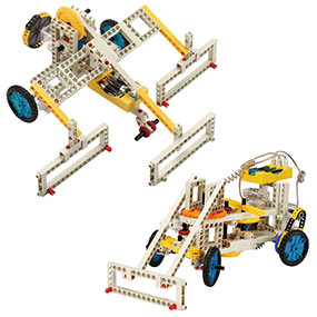 Build 10 remote control models including multiple bulldozers
