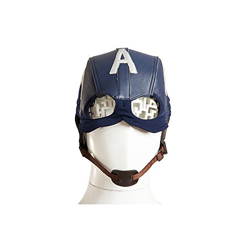 MLYX Men's Captain America Civil War Captain America Cowl Helmet Mask Halloween Props