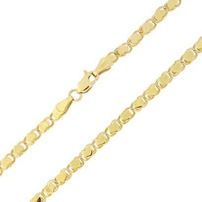 14k-Yellow-Gold-35mm-Diamond-Cut-Hearts-Chain-Anklet-10