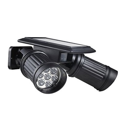 GenLed-Solar-Powered-Lights-PIR-Motion-Sensor-Dual-Head-Spotlight-Adjustable-Waterproof-14-LED-Wall-Light