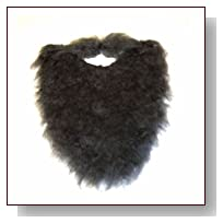 Fake Beard and Mustache Halloween Costume Accessory-Black-8