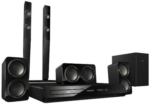 Philips HTS3583/12 5.1 3D-Blu Ray Heimkinosystem (HDMI, Upscaler 1080p, DivX-zertifiziert, Apple iPod-Anschluss, USB 2.0) schwarz
