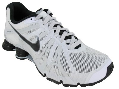 Buy Mens Nike Shox Turbo+ 13 Running Shoes Summit White / Black / Pure Platinum / Grey 525155-100 Size 10
