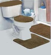 Amazon.com: Dark Brown Bathroom Rug Set 4 Pc: Kitchen & Dining