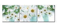 Daisy Wall Art - abstract daisy - flower canvas wall art ...