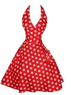 Hell Bunny 50s Sun Rot Polka Dots Kleid