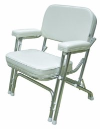 Wise Folding Deck Chair with Aluminum Frame, White ...