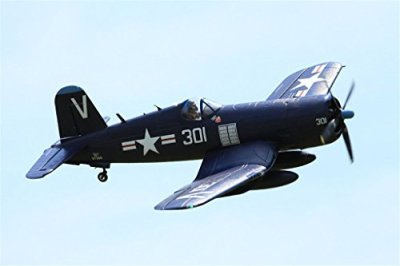FMS-F4U-Corsair-V3-RC-Airplane-6CH-1400mm-552-Wingspan-Blue-with-Flaps-LED-Retracts-PNP-Warbird
