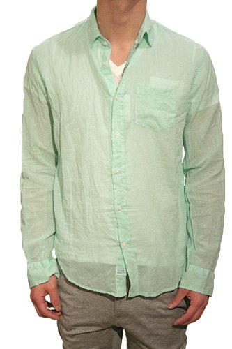 【正規取扱店】Frank&Eileen フランクアンドアイリーン LUKE メンズシャツ VOILE GREEN