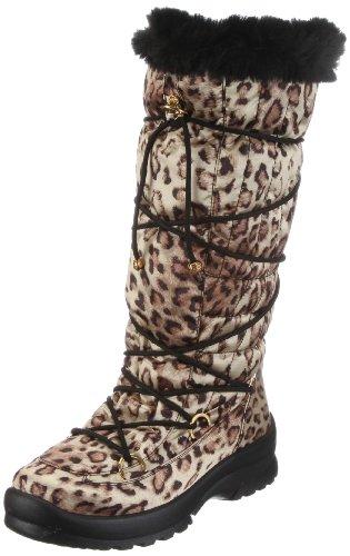 San Bernardo 02-06543-l, Damen Stiefel, Beige (leopard), EU 42