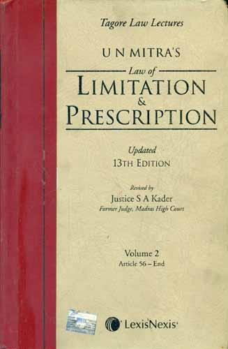 Law of Limitation and Prescription Act (Set of 2 Volumes)