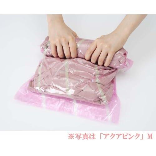 【VACPAC】 トラベル用 衣類圧縮袋 Lサイズ 1枚入り (アクアブルー) 日本製