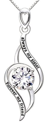 ALOV-Jewelry-Sterling-Silver-always-my-sister-Forever-my-friend-Love-Pendant-Necklace