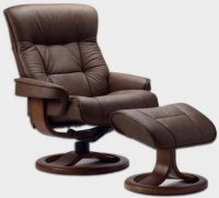 Fjords 775 Bergen Large Leather Recliner Norwegian ...