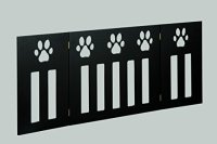 Pet Gate. Foldable Adjust Freestanding Wood Paw Print