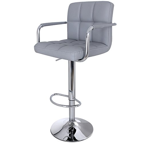 Songmics 1 x Barhocker Stuhl Barstuhl mit Armlehnen und Lehne Belastbar bis 200 kg