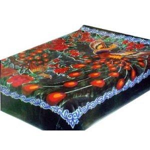Amazoncom Solaron Queen Peacock Korean Mink Blanket