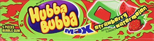 Hubba Bubba Max 18Packs StrawberryWatermelon Food