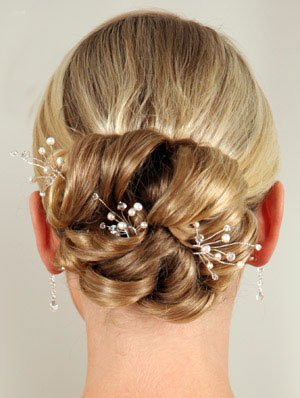 kingdom royal wedding simple pearl crystal hair pin