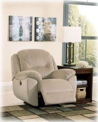 Power Rocker Recliner in Putty Color Fabric by Ashley