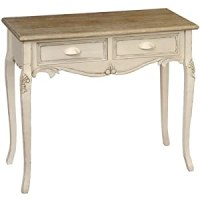 SHABBY CHIC FRENCH STYLE COUNTRY 2-DRAWER DRESSING TABLE ...