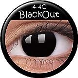 Farbige Kontaktlinsen crazy Kontaktlinsen crazy contact lenses Schwarz Black Dämonaugen Hexenaugen 1 Paar.Mit Kontaktlinsenbehälter.