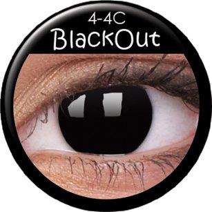 Farbige Kontaktlinsen crazy Kontaktlinsen crazy contact lenses schwarz black Gothic 1 Paar mit 60ml Kombilösung und Kontaktlinsenbehälter!