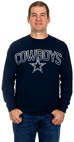 Dallas Cowboys Men's Long Sleeve Cotton T-Shirt (2X)