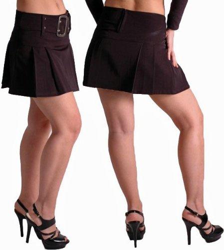 EyeCatchClothing - Carrie Damen Minirock Mini Rock mit Gürtel