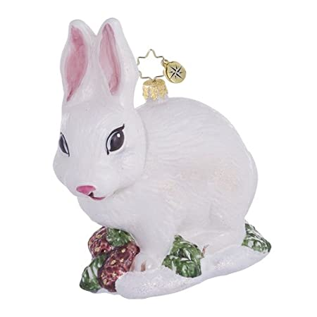 White Bunny Ornament