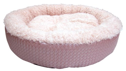 Best Pet Supplies Faux Leather Round Bed, Small