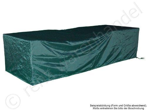 Abdeckplane/Abdeckhaube für Gartenmöbel - Maße: 153cm x 93cm x 44/64cm