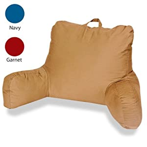Bed Rest Study Pillow  Khaki Amazoncouk Kitchen  Home