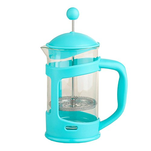 Aqua Blue 3-Cup Compact Coffee Maker French Press, 12 Oz